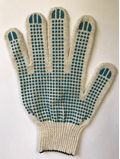 Перчатки строительные 4-Х НИТКА Х/Б С ПВХ 10 КЛАСС
