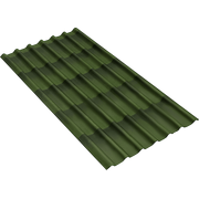 Черепица Ондулин 960х1950х3мм зелёная
