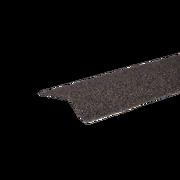 Планка карнизная с гранулятом Коричнево-серый