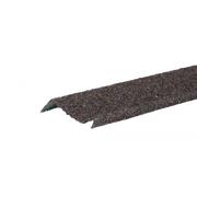 Планка примыкания с гранулятом Коричево-серый